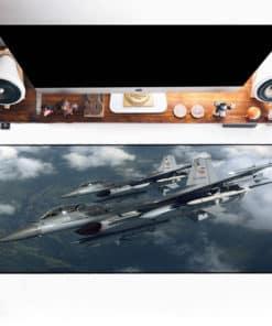 Grand tapis de souris - avion de combat duo en formation