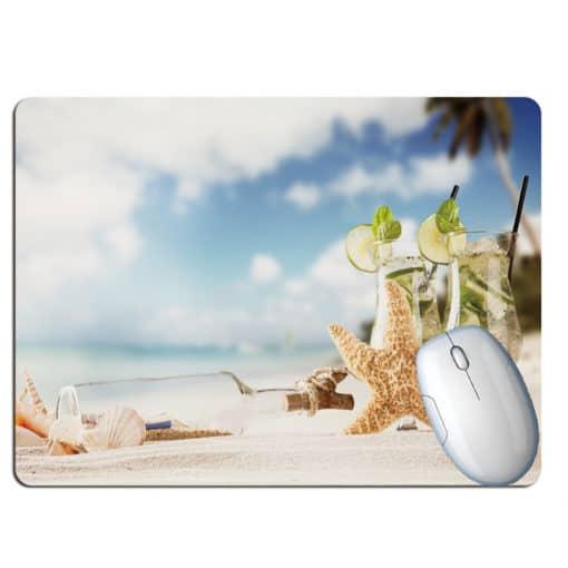 tapis de souris paysage plage paradisiaque citron
