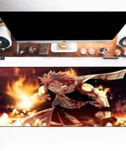 Tapis de souris XXL manga Fairy Tail Natsu et son poing en feu