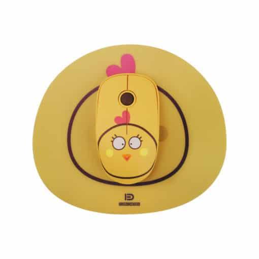 Souris sans fil enfant - Petite poule jaune
