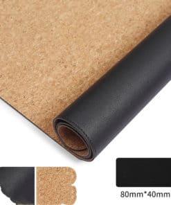 tapis de souris XXL liège imperméable double face noir