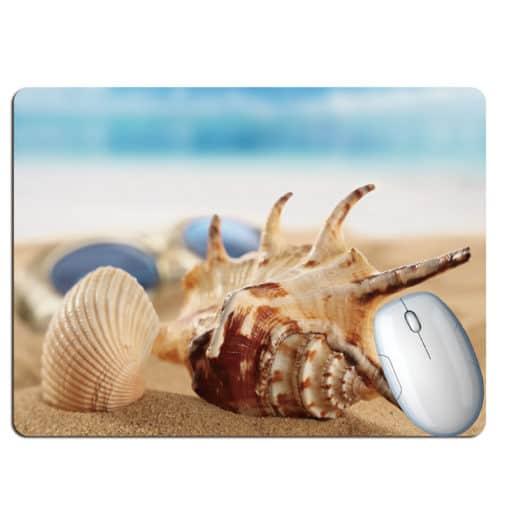 Tapis de souris paysage plage paradisiaque lambi