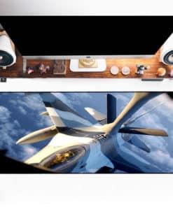 Grand tapis de souris - avion de combat vue du cockpit
