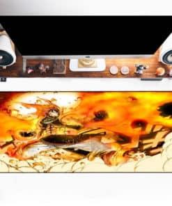 Tapis de souris XXL manga Fairy Tail Natsu en feu