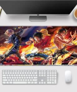 Tapis de souris One Piece Luffy et ses frères en feu