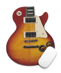 Tapis de souris guitare électrique