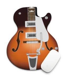 Tapis de souris guitare rétro