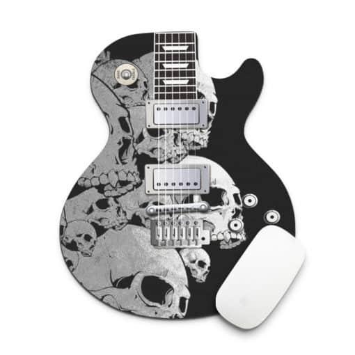 Tapis de souris guitare skulls