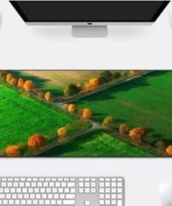 Tapis de souris très grande taille 1200x600 Routes dans les champs