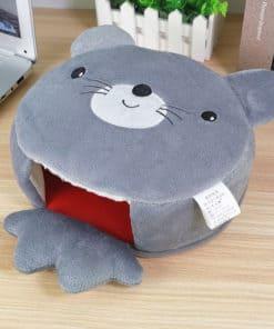 Tapis de souris chauffe-main souris grise