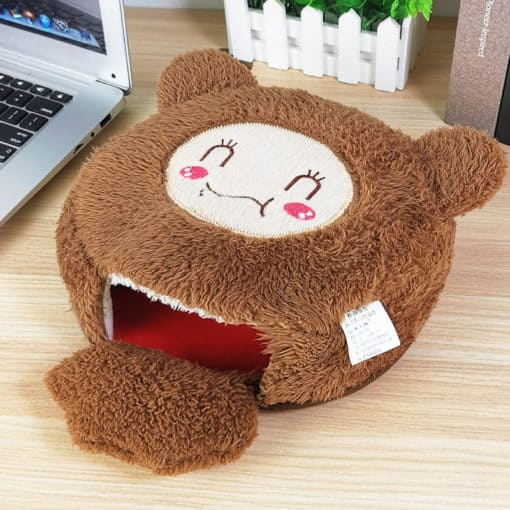Tapis de souris chauffe-main ours en peluche