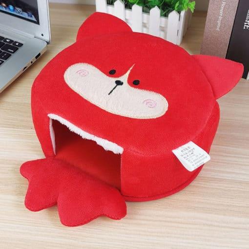 Tapis de souris chauffe-main renard rouge