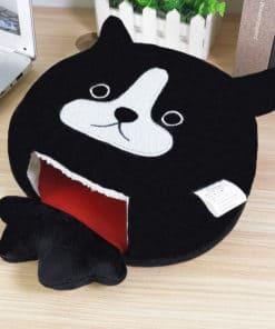 Tapis de souris chauffe-main chat noir