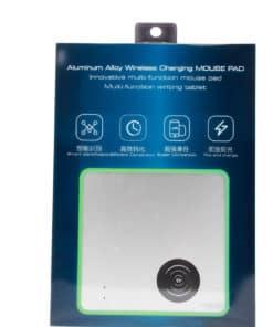 Tapis de souris aluminium avec chargeur sans fil à induction Qi - Boîte