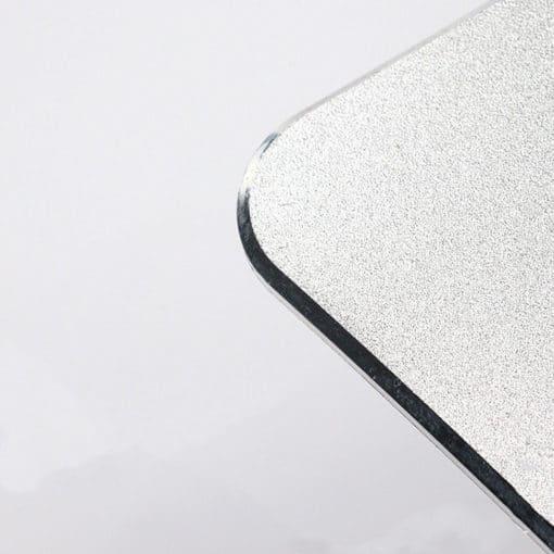 tapis de souris aluminium rectangle incurvé double face argent