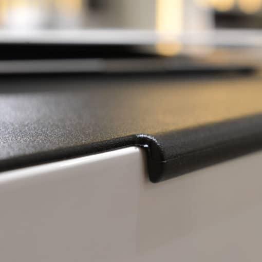 Grand tapis de souris avec rebord de fixation simili cuir noir zoom