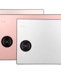 Tapis de souris aluminium avec chargeur sans fil à induction Qi - Différents coloris