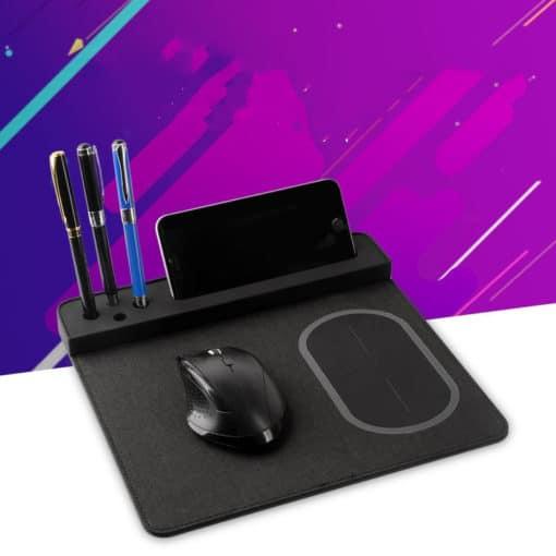 Tapis de souris rechargeable multifonctions 4 en 1 stylos et smartphone