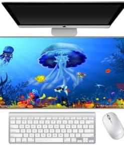Grand tapis de souris - Méduse Monde sous-marin