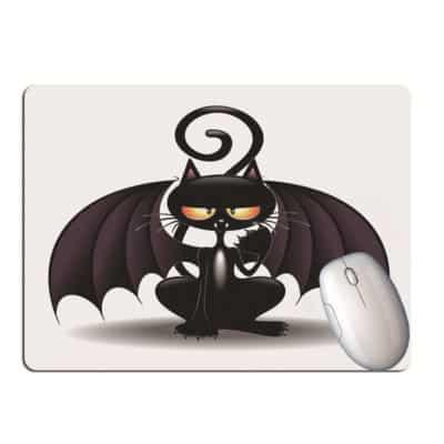 Tapis de souris chat noir marrant cartoon chauve-souris Batcat