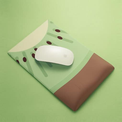 Tapis de souris ergonomique kiwi avec souris